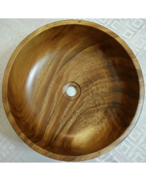 Ariellina Acacia Wood Vessel Sink