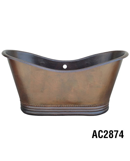 ARIELLINA DOUBLE SLIPPER SOAKER COPPER TUB