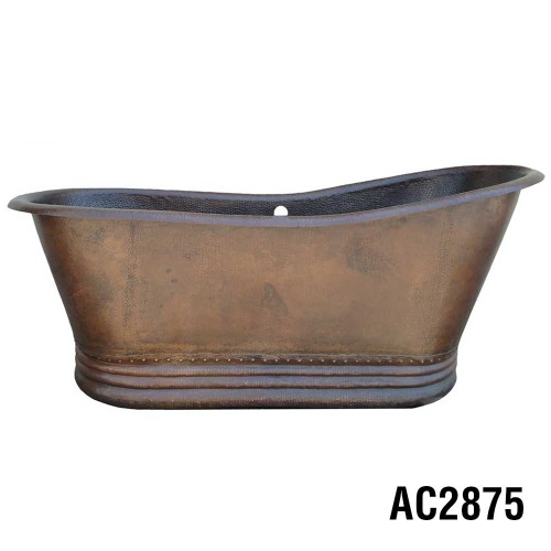 Ariellina Slipper Soaker Copper Tub
