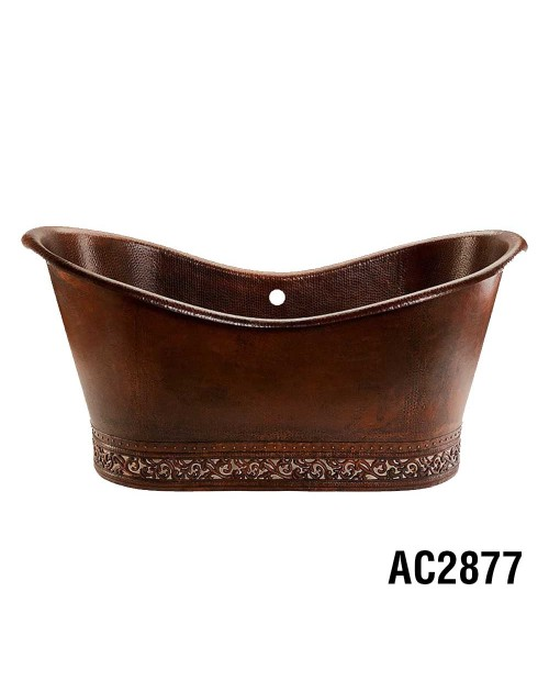 Ariellina Double Slipper Soaker Copper Tub 3D Skirt