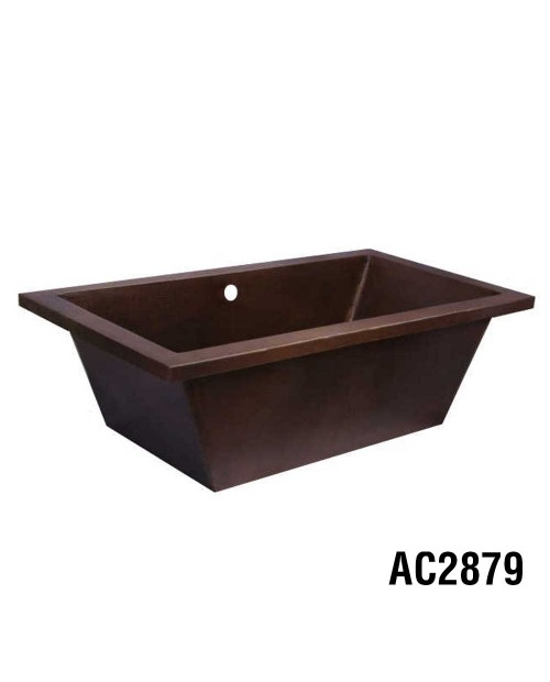 Ariellina Drop-in Soaker Copper Tub