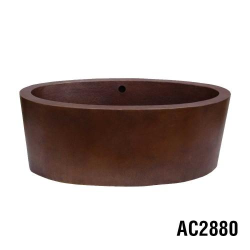Ariellina Double Wall Soaker Copper Tub