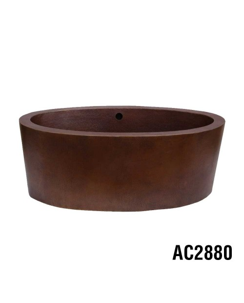 Ariellina Double Wall Soaker Copper Tub