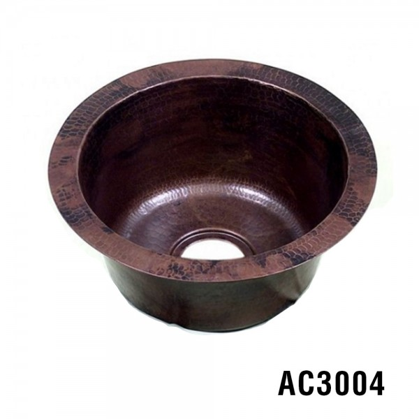 ARIELLINA HAMMERED COPPER BAR & PREP SINK 16""