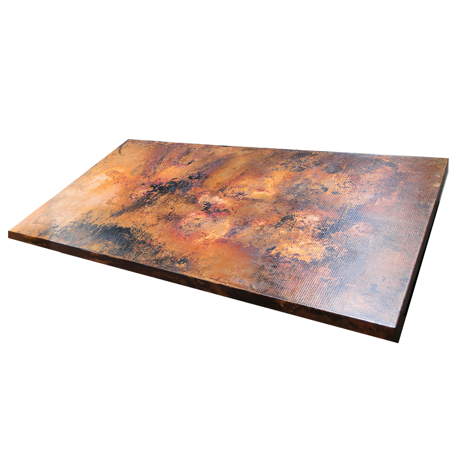 Ariellina copper table rectangular table tops for Table y copper