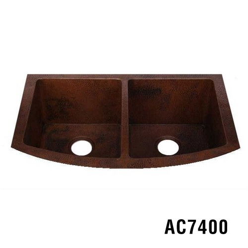 "33""x22""x10"" 50/50 Copper Kitchen Sink Item AC7400"