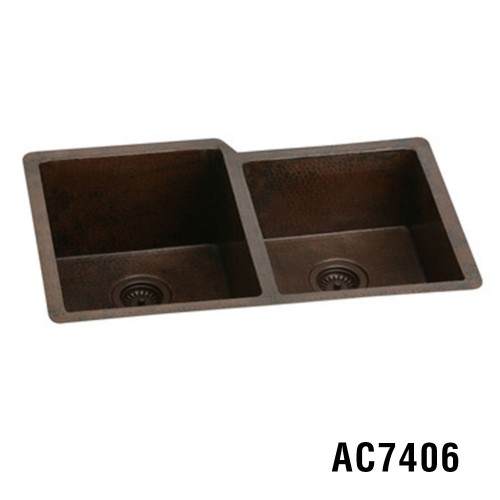 "33""x22""x10"" Copper Kitchen Sink Item AC7406"