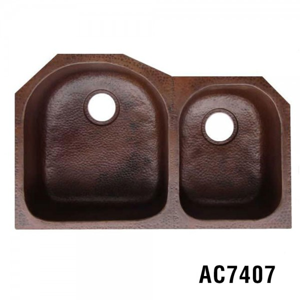 "31.25""x20""x10"" Copper Kitchen Sink Item AC7407"