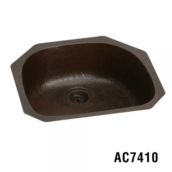 "23.5""x21.5""x10"" Copper Kitchen Sink Item AC7410"