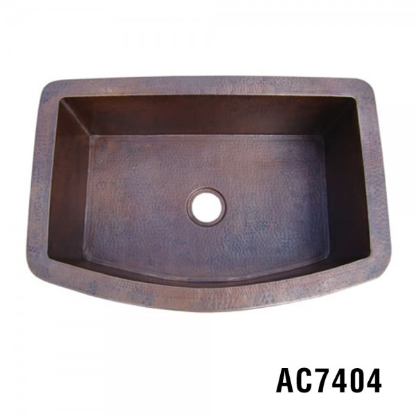"33""x22""x10"" Copper Kitchen Sink Item AC7404"