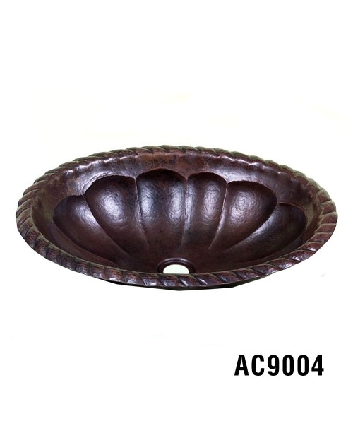 "19"" or 17"" Oval Copper Sink"