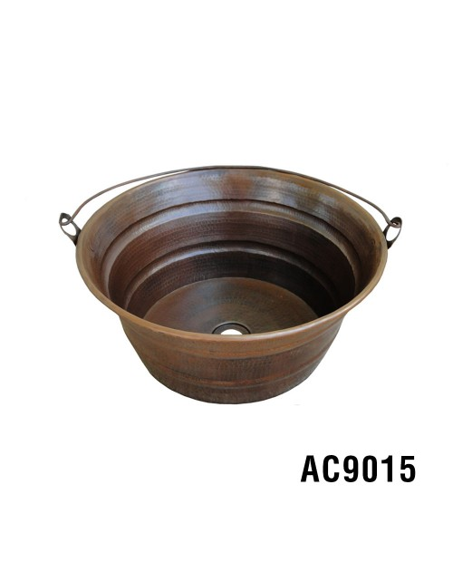 "16"" Bucket Vessel Copper Sink"