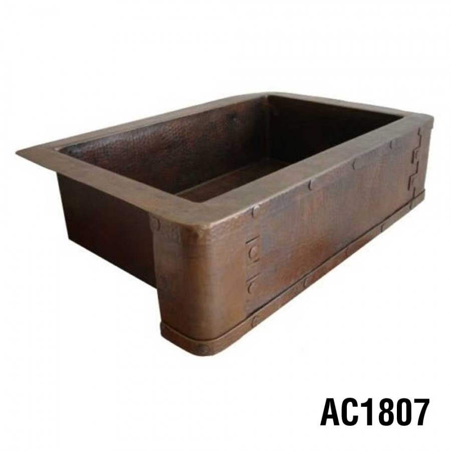 Awe Inspiring Ariellina Farmhouse 14 Gauge Copper Kitchen Sink Lifetime Interior Design Ideas Inesswwsoteloinfo