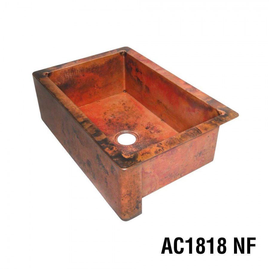 Groovy Ariellina Farmhouse 14 Gauge Copper Kitchen Sink Lifetime Interior Design Ideas Inesswwsoteloinfo