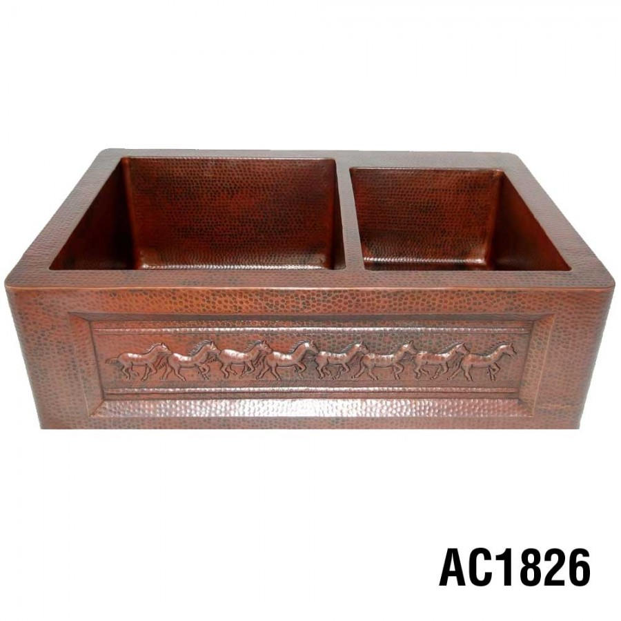 Astounding Ariellina Farmhouse 14 Gauge Copper Kitchen Sink Lifetime Interior Design Ideas Inesswwsoteloinfo