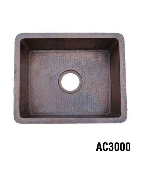 Ariellina Hammered Copper Bar & Prep Sink 22""