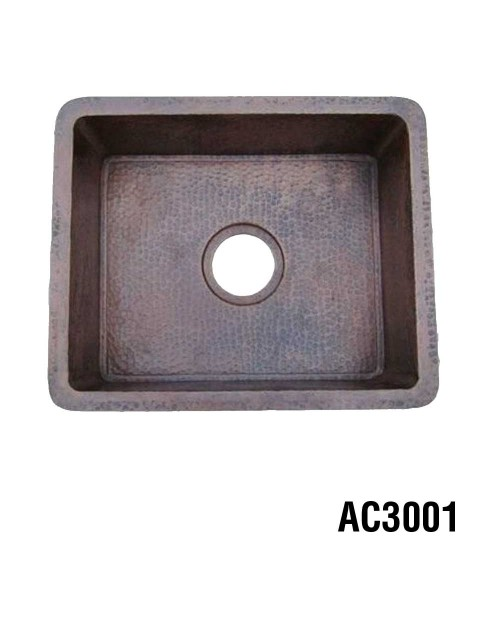 Ariellina Hammered Copper Bar & Prep Sink 18""