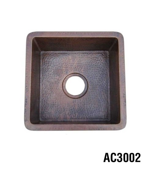 Ariellina Hammered Copper Bar & Prep Sink 15""